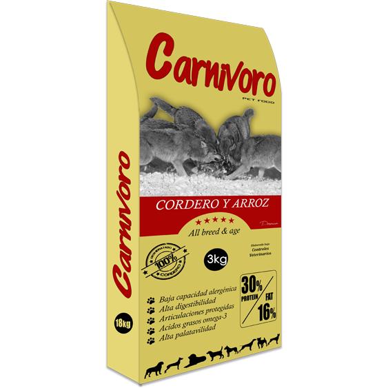 Pienso Carnivoro Cordero Arroz 3kg